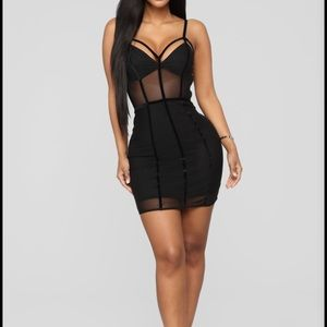 Fashion Nova Black Mesh Dress
